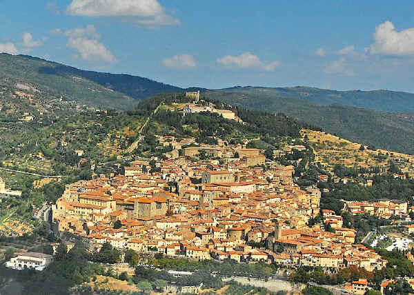 town of Cortona in Tuscany, central Italy
